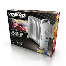 Электрический Масляный Радиатор Напольный Обогреватель на 11 Секций Мощность 1200W (Mesko MS 7806), фото 3