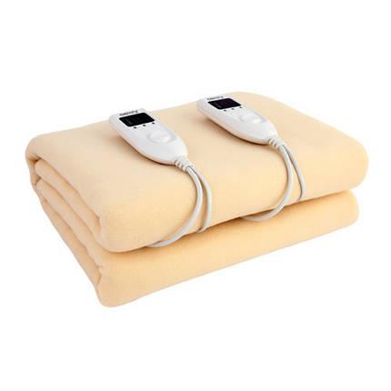 Одеяло Электрическое Двухспальное 150 см х 160 см Электрическая Простынь Мощность 120 Вт (Camry CR 7408), фото 2