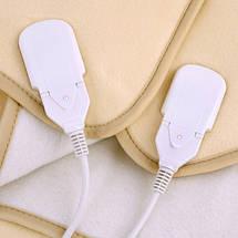 Одеяло Электрическое Двухспальное 150 см х 160 см Электрическая Простынь Мощность 120 Вт (Camry CR 7408), фото 3