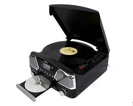 Проигрыватель-Граммофон Музыкальный Для Виниловых Дисков - Грампластинки/CD/MP3/USB/SD (Camry CR 1134 b), фото 2