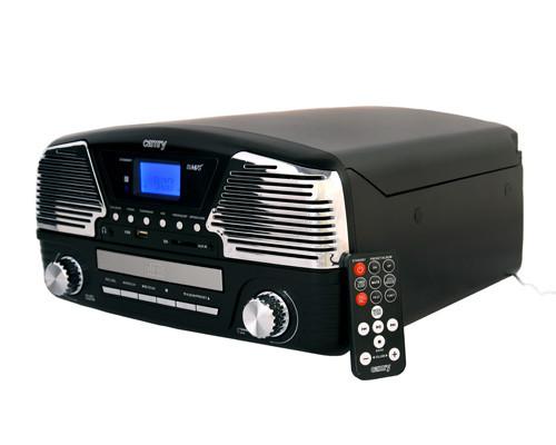 Проигрыватель-Граммофон Музыкальный Для Виниловых Дисков - Грампластинки/CD/MP3/USB/SD (Camry CR 1134 b)