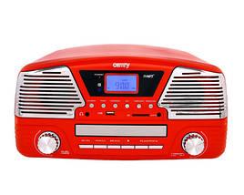 Проигрыватель-Граммофон Музыкальный Для Виниловых Дисков Ретро - Грампластинки/CD/MP3/USB/SD (Camry CR 1134 r), фото 3