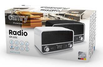 Радиоприемник FM-Радио с ЖК-Дисплеем+USB Выход(Camry CR 1151b), фото 3