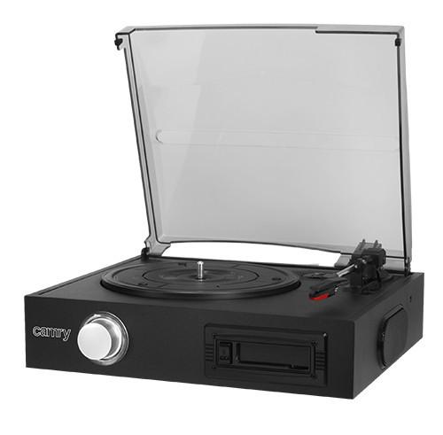 Музыкальный Ретро Проигрыватель Для Виниловых Дисков (Грампластинок)+Кассетный Магнитофон Плеер(Camry CR 1149)