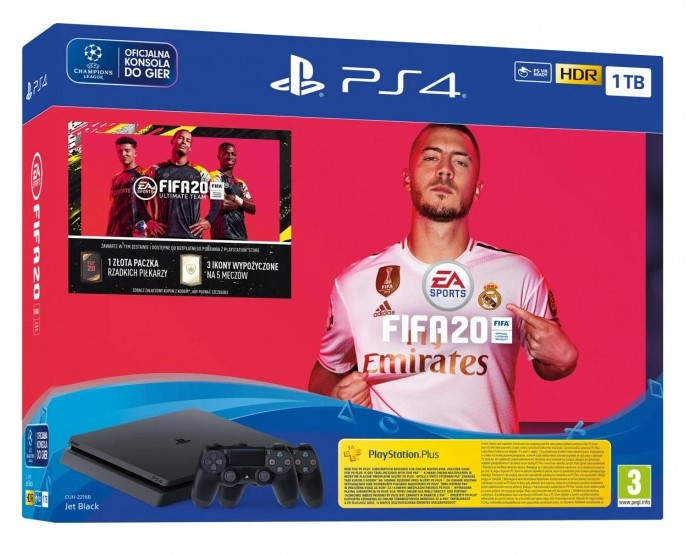 Игровая консоль SONY PLAYSTATION 4 SLIM 1TB + FIFA 20 + PAD DS4