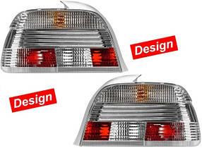 Фонари задние BMW 5 (E39) 1995-2003 серебристые Design кт 2шт 2SK 008 272-801