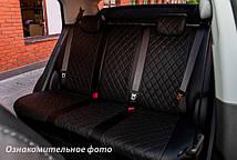 Чехлы салона Kia Sportage 2015- (зад. сид. 60/40) Эко-кожа, Ромб /черные, фото 3