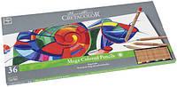 Набор цветных карандашей, MEGACOLOR, 36шт., мет. коробка, Cretacolor