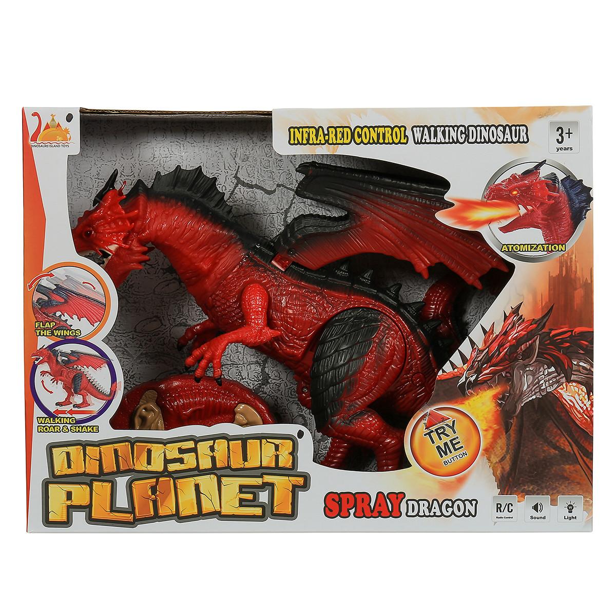 Интерактивный динозавр RS6159A на радиоуправлении, дышит пламенем