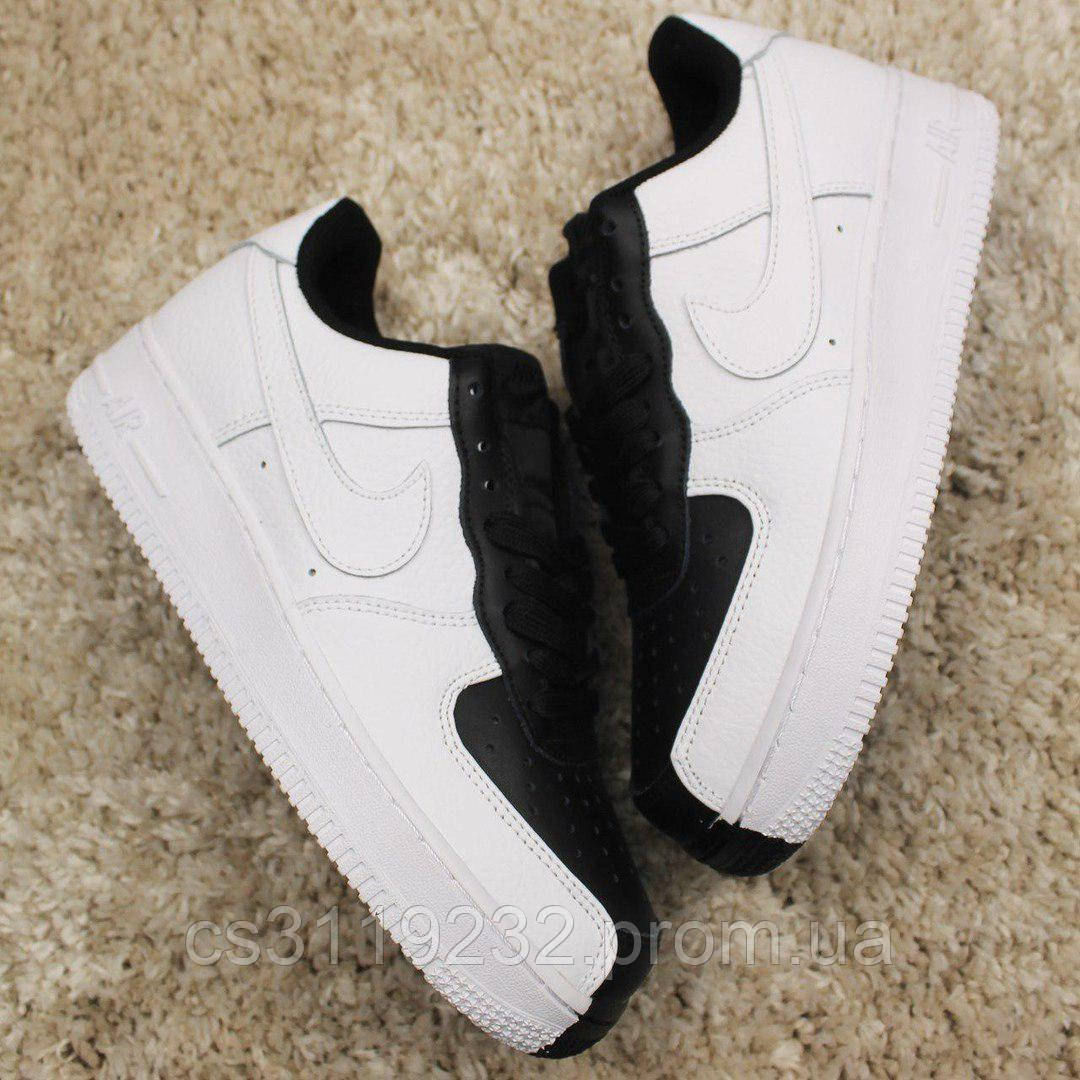 Женские кроссовки Nike Air Force 1 Low Split White Black (черно-белые)