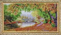"""Набор для вышивания бисером """"Осени краски"""" (по картине Елены Самарской)  P-080"""