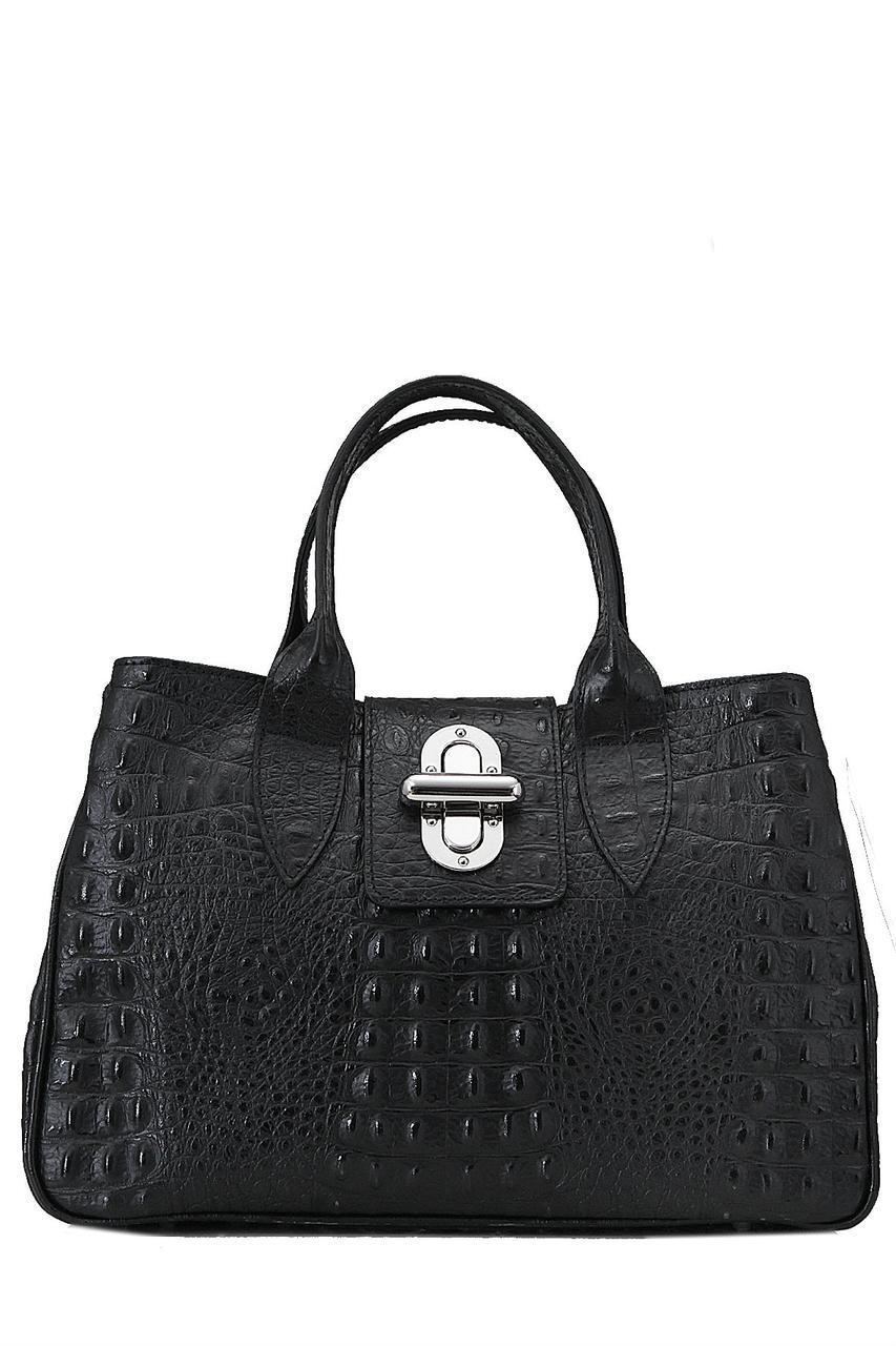 Женская кожаная сумка LAURA Diva's Bag цвет черный