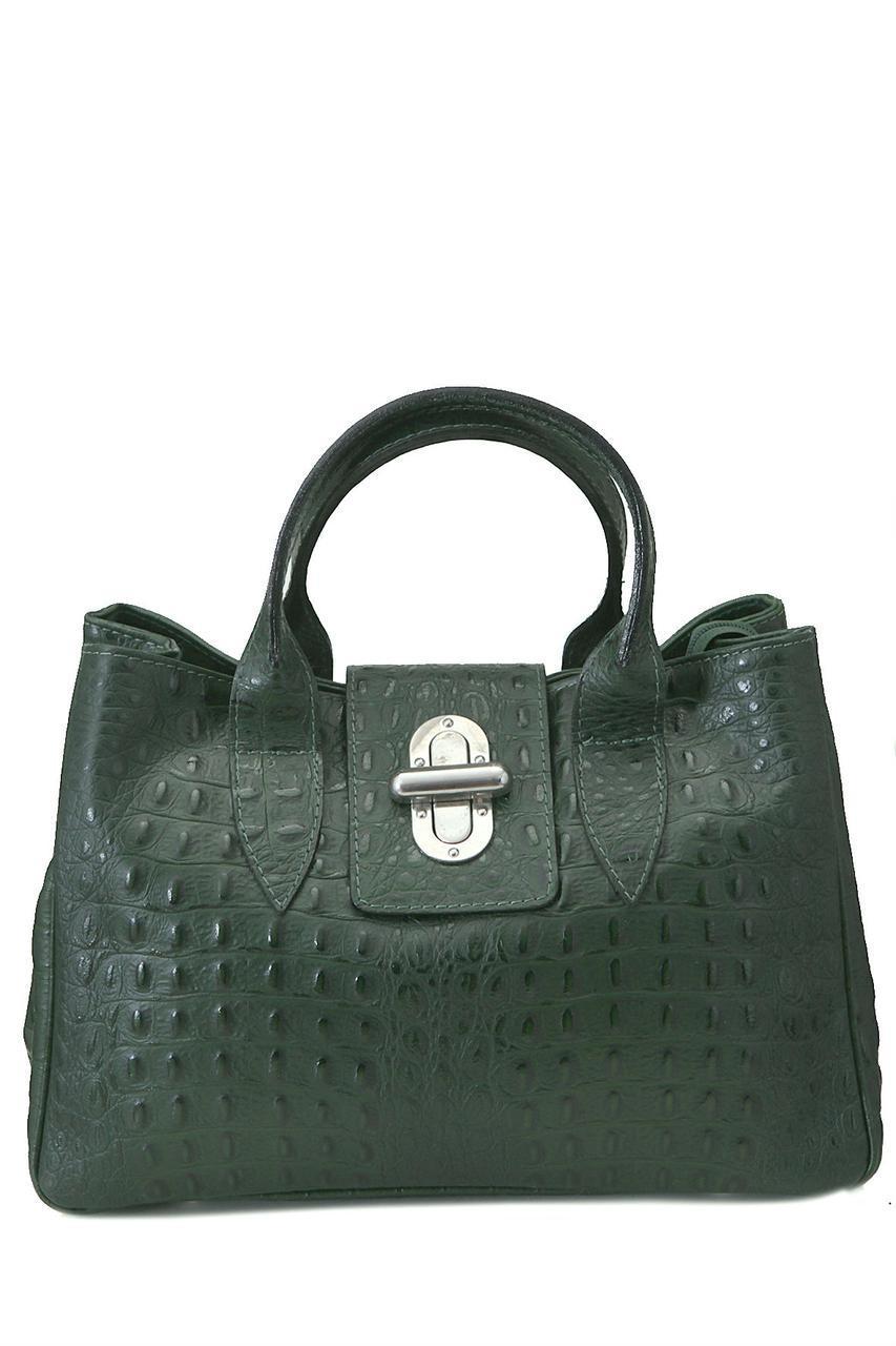 Женская кожаная сумка LAURA Diva's Bag цвет темно-зеленый