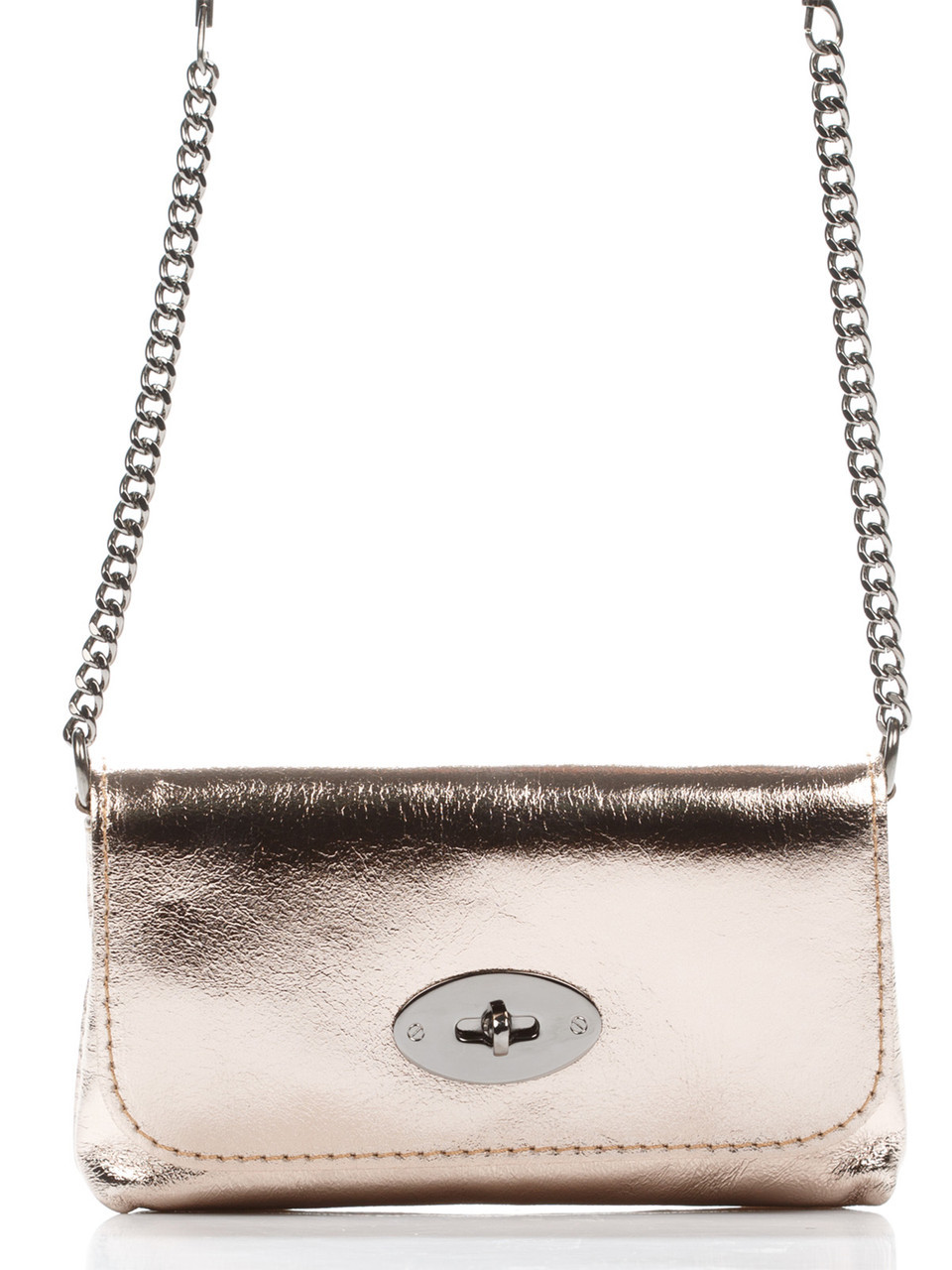 Женская кожаная сумка GAIA Diva's Bag цвет бронзовый