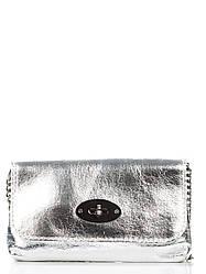 Женская кожаная сумка GAIA Diva's Bag цвет серебряный
