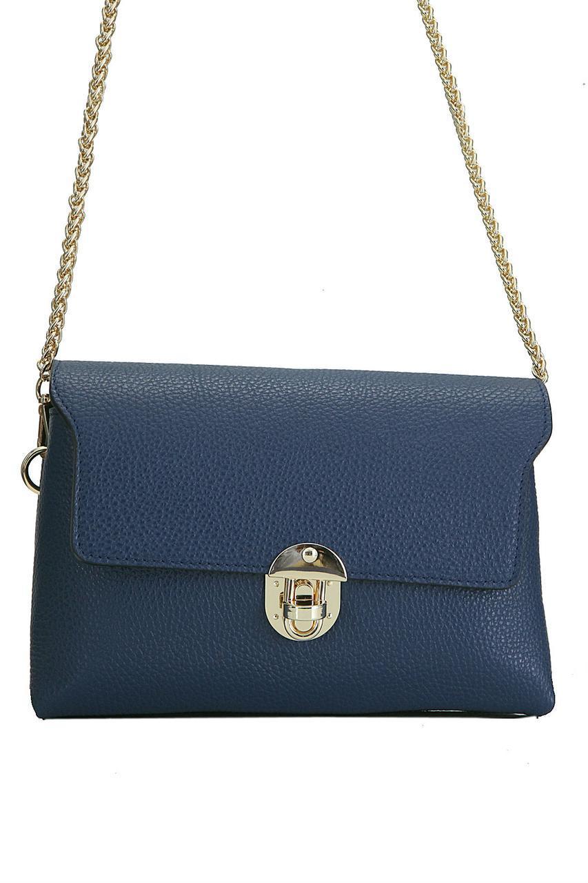 Жіноча шкіряна сумка GAILA diva's Bag колір темно-синій