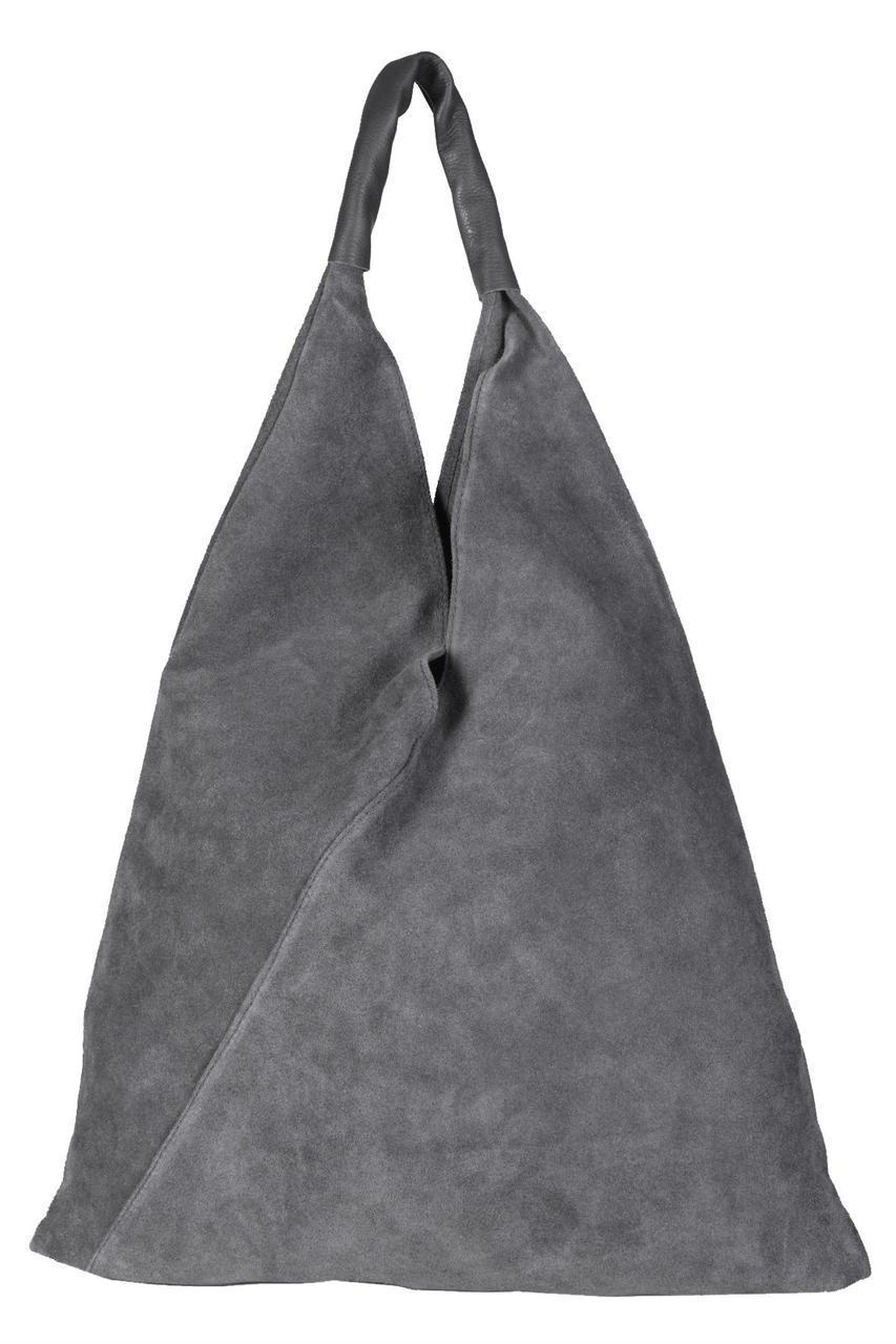 Женская сумочка кежуал через плече VOLMA Diva's Bag темно-серая 45 см х 38 см