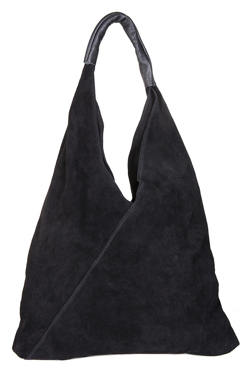 Женская кожаная сумка VOLMA Diva's Bag цвет черный