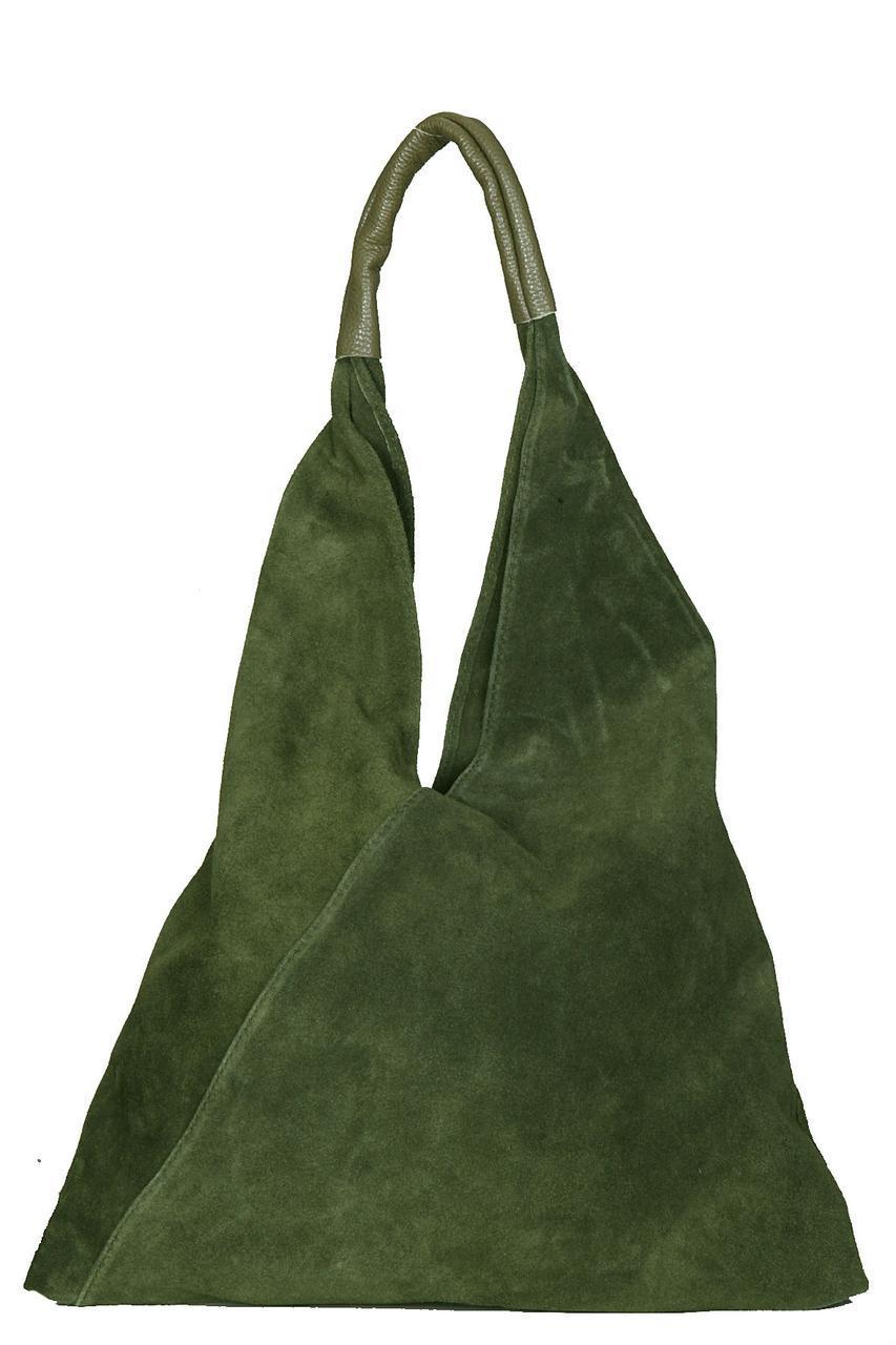 Женская кожаная сумка VOLMA Diva's Bag цвет оливковый