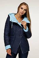 Демісезонна куртка з коміром - стійкою, перехідним в капюшон з 44 по 54 розмір, фото 4