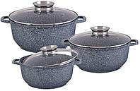 Набор посуды  Edenberg EB-8020 6 предметов с мраморным покрытием , фото 1