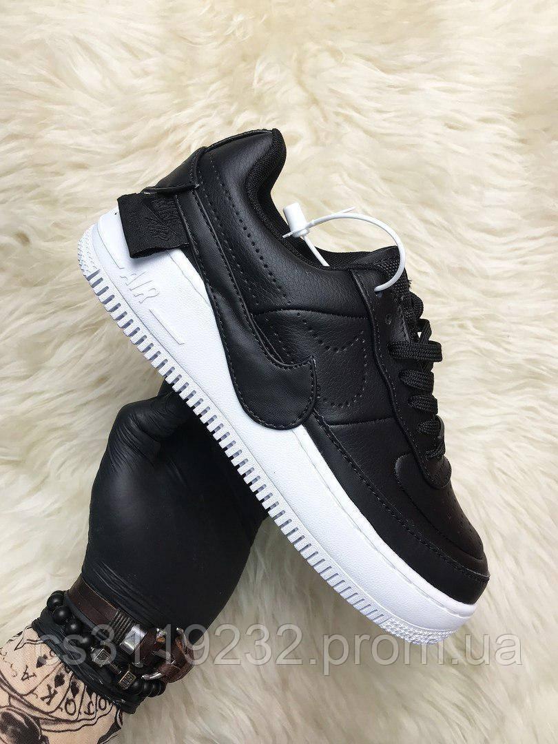 Женские кроссовки Nike Air Force Low Jester (черные)