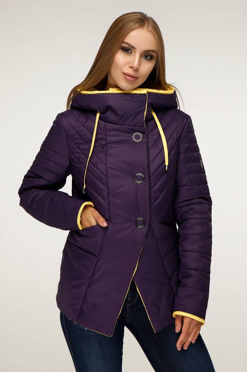 Демісезонна куртка з коміром - стійкою, перехідним в капюшон з 44 по 54 розмір