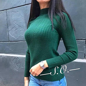 Женская водолазка зеленая