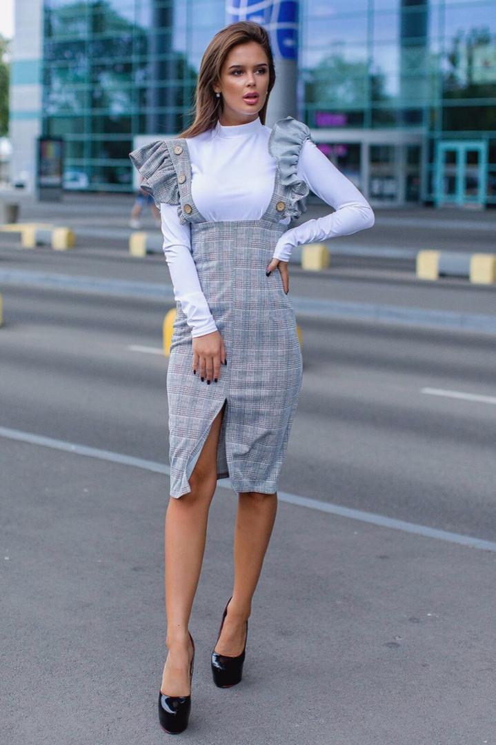 Женский стильный костюм - двойка  СД690 (норма)