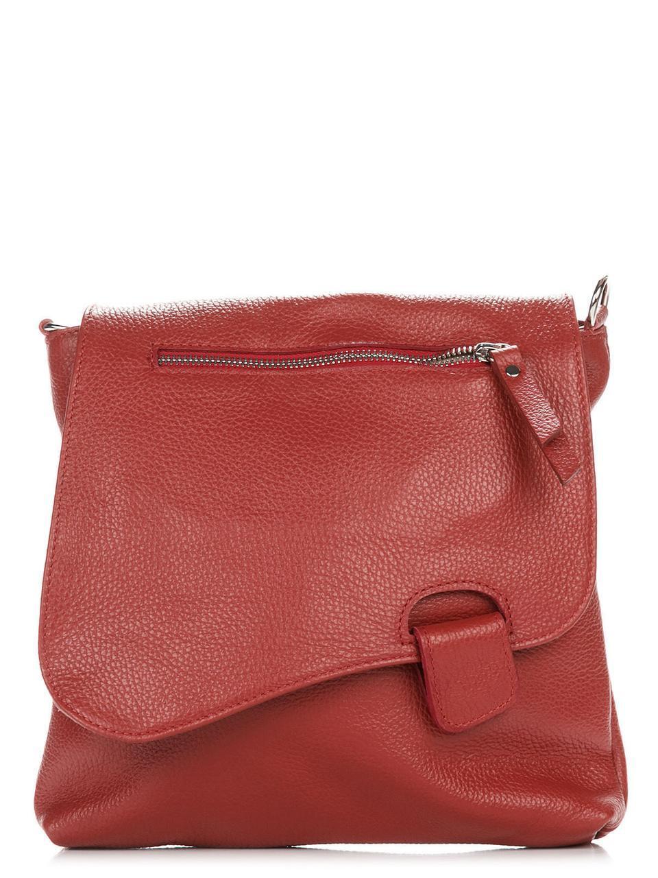 Женская кожаная сумка VILMA Diva's Bag цвет красный