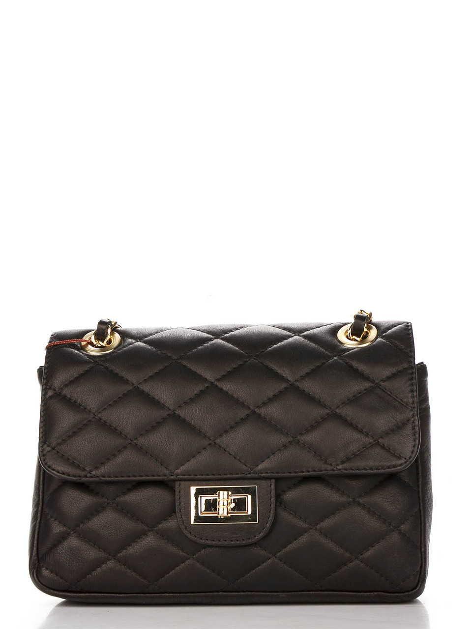 Женская кожаная сумка VALENTINA Diva's Bag цвет черный