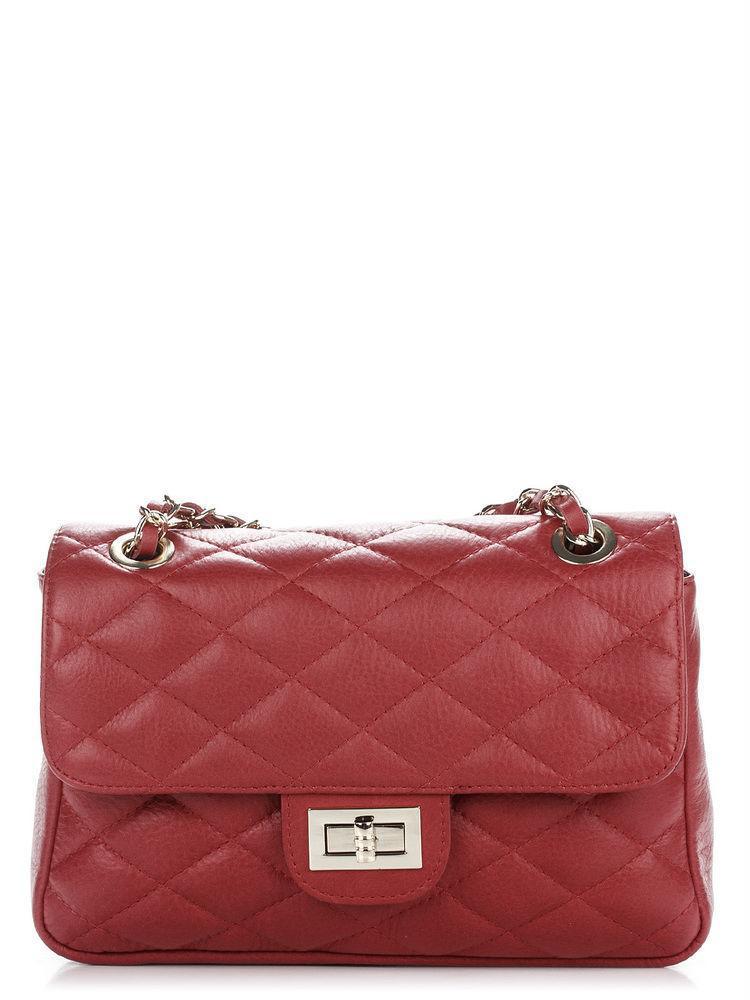 Жіноча шкіряна сумка VALENTINA diva's Bag колір бордовий
