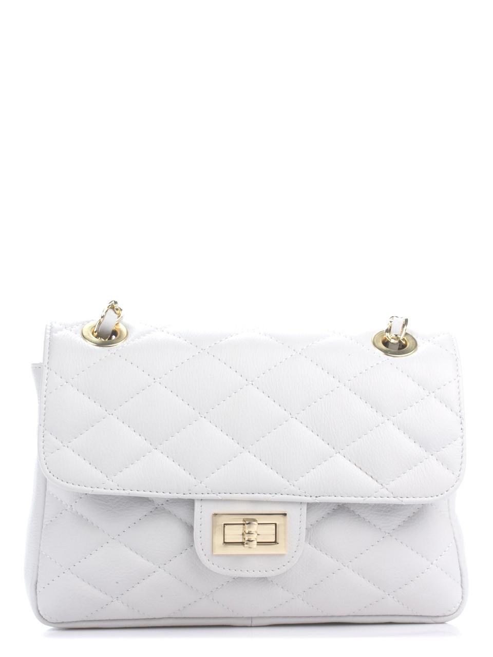 Женская кожаная сумка VALENTINA Diva's Bag цвет белый