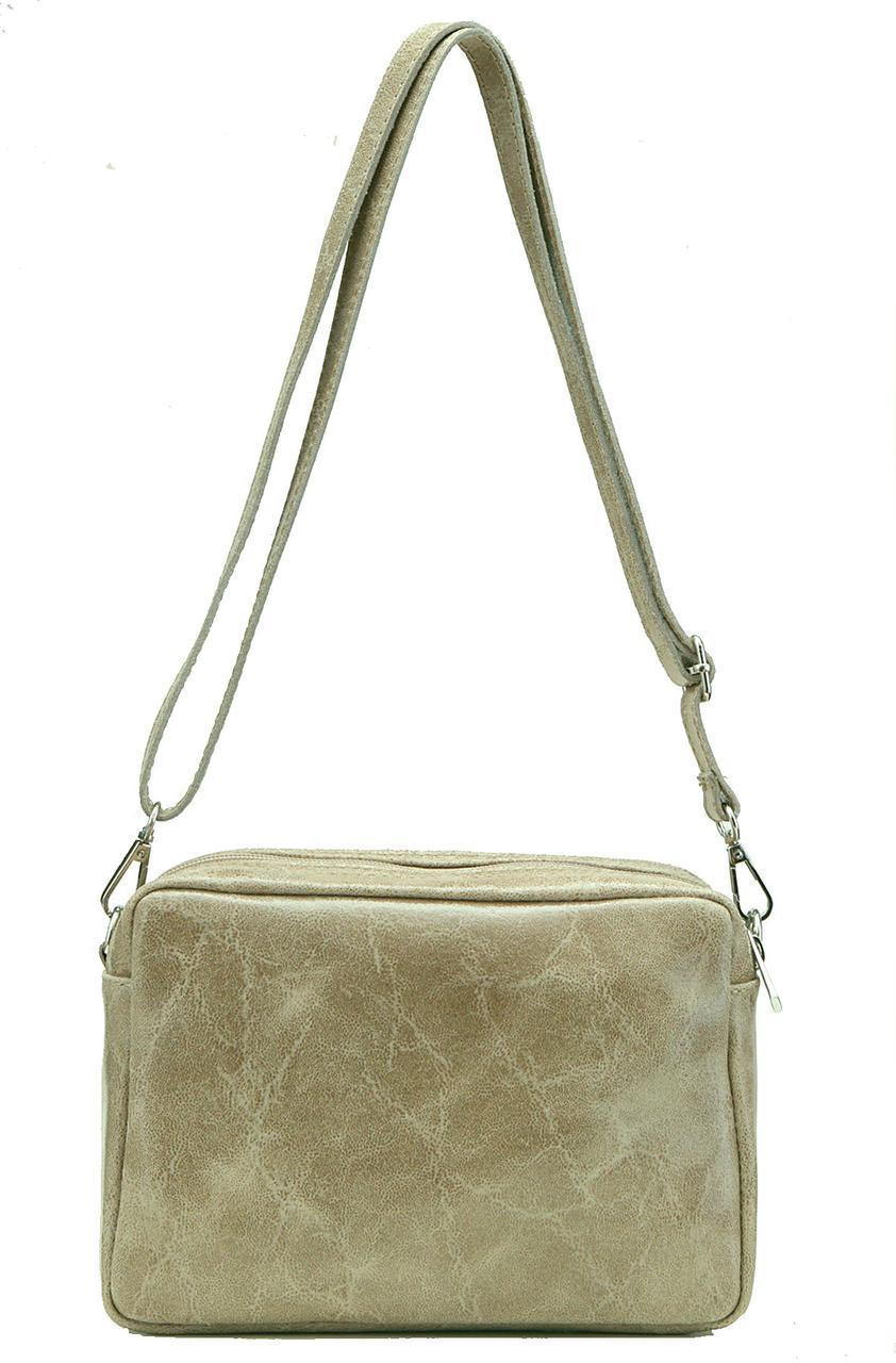 Женская кожаная сумка BRITTA Diva's Bag цвет темно-бежевый