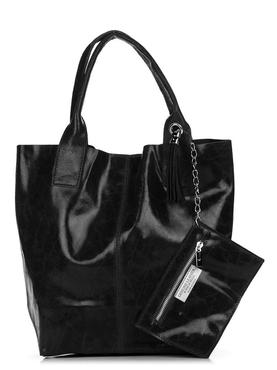 Женская кожаная сумка BRIGIDA Diva's Bag цвет черный