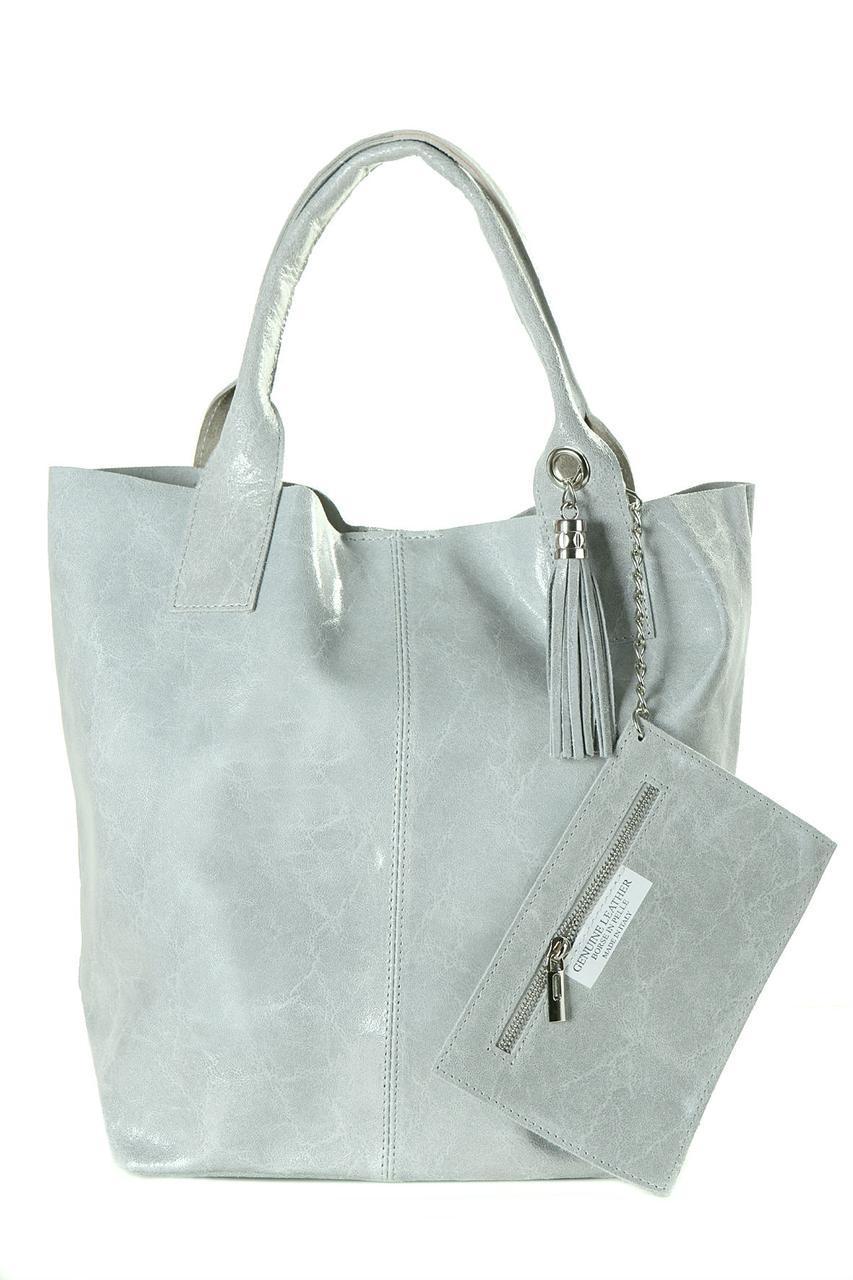 Женская кожаная сумка BRIGIDA Diva's Bag цвет серый