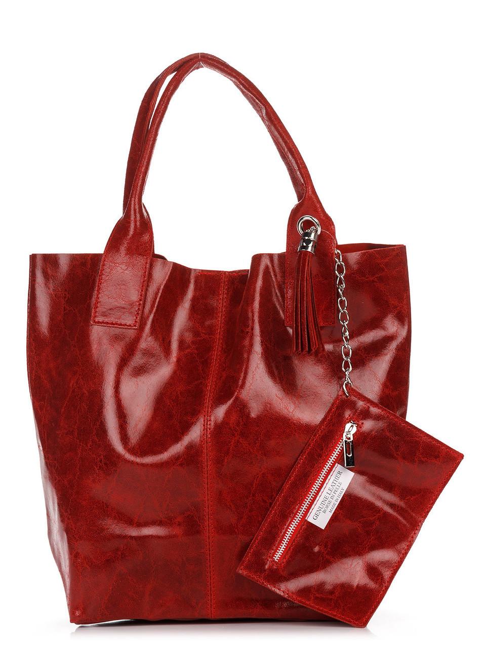 Женская кожаная сумка BRIGIDA Diva's Bag цвет красный