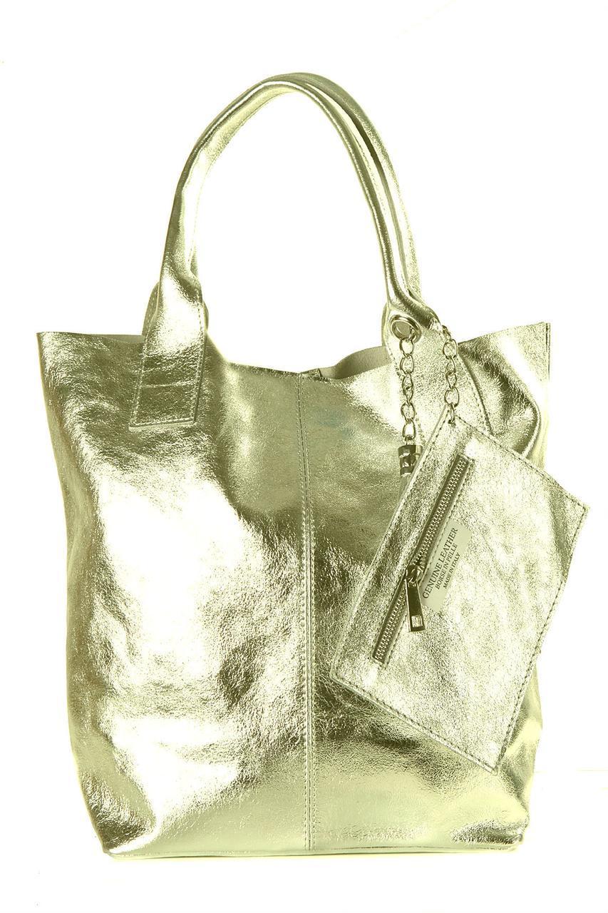 Женская кожаная сумка BRIGIDA Diva's Bag цвет золотой
