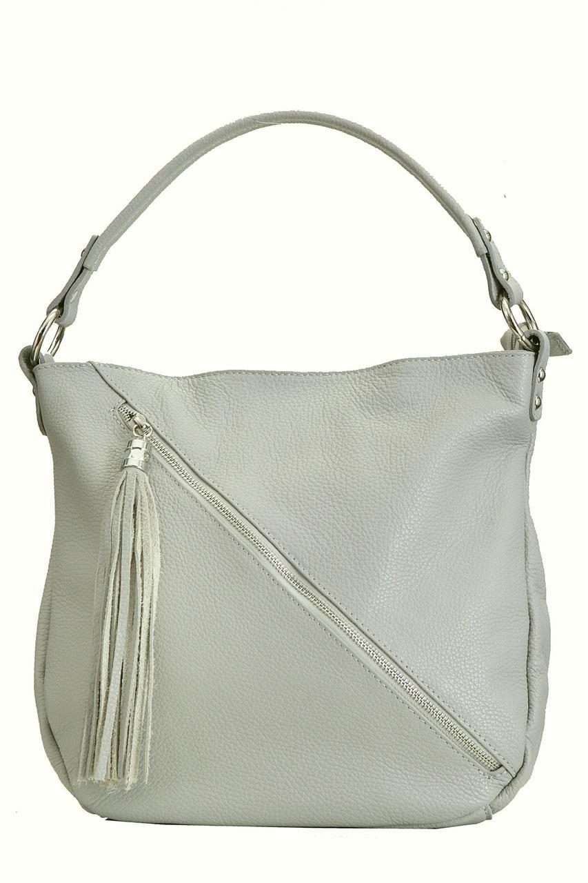 Женская кожаная сумка BRIAGA Diva's Bag цвет серый