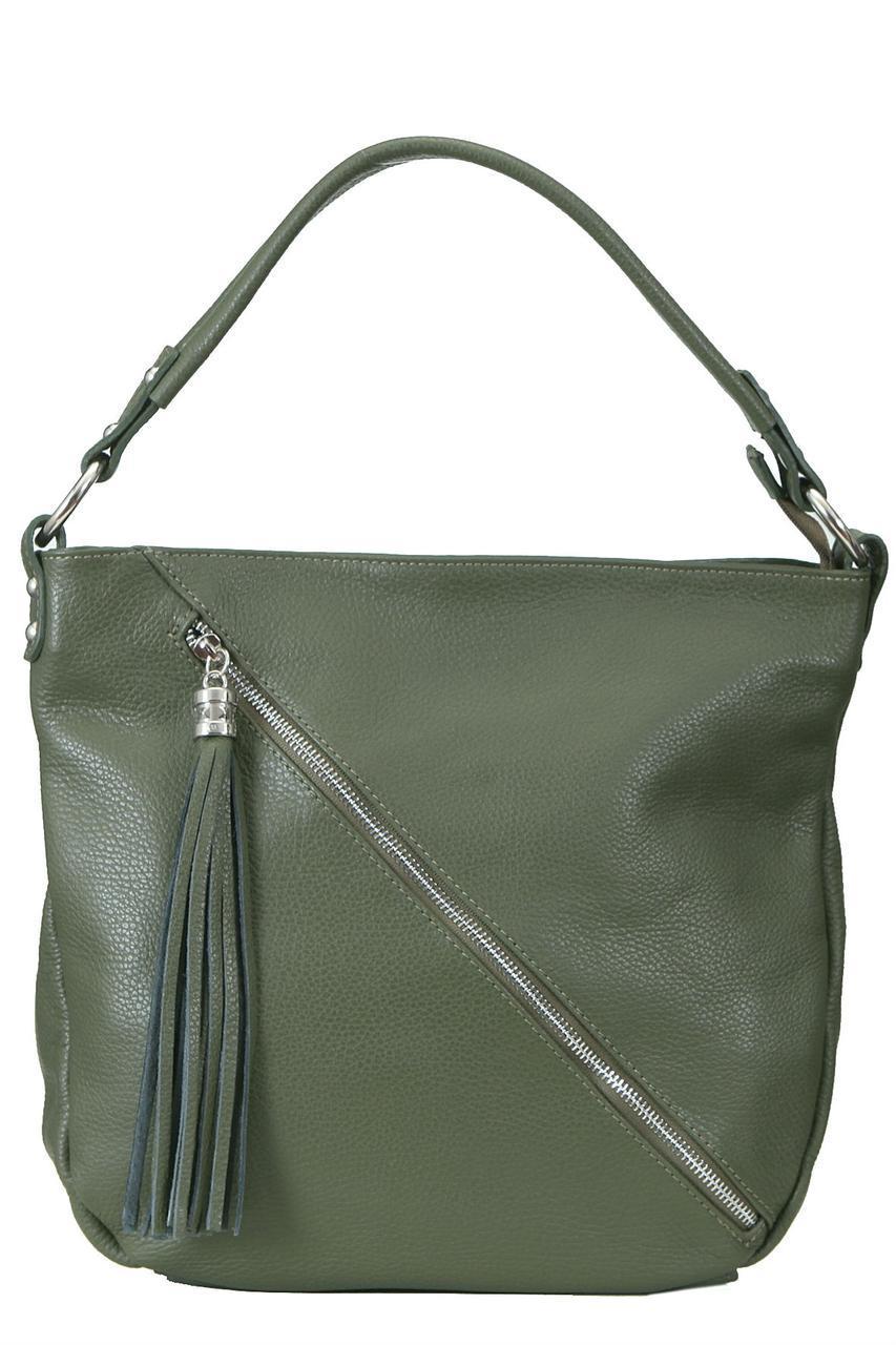 Женская кожаная сумка BRIAGA Diva's Bag цвет оливковый