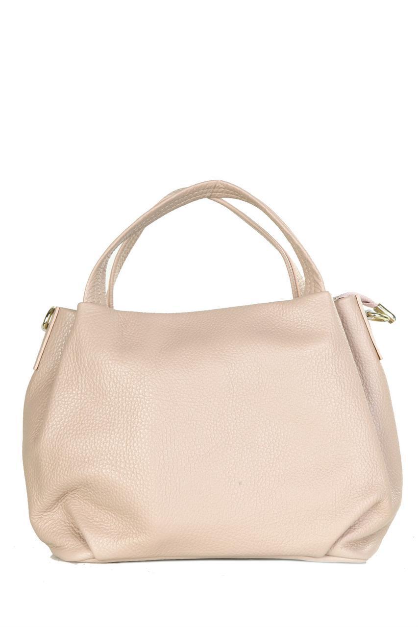 Женская кожаная сумка BONELLA Diva's Bag цвет пудра