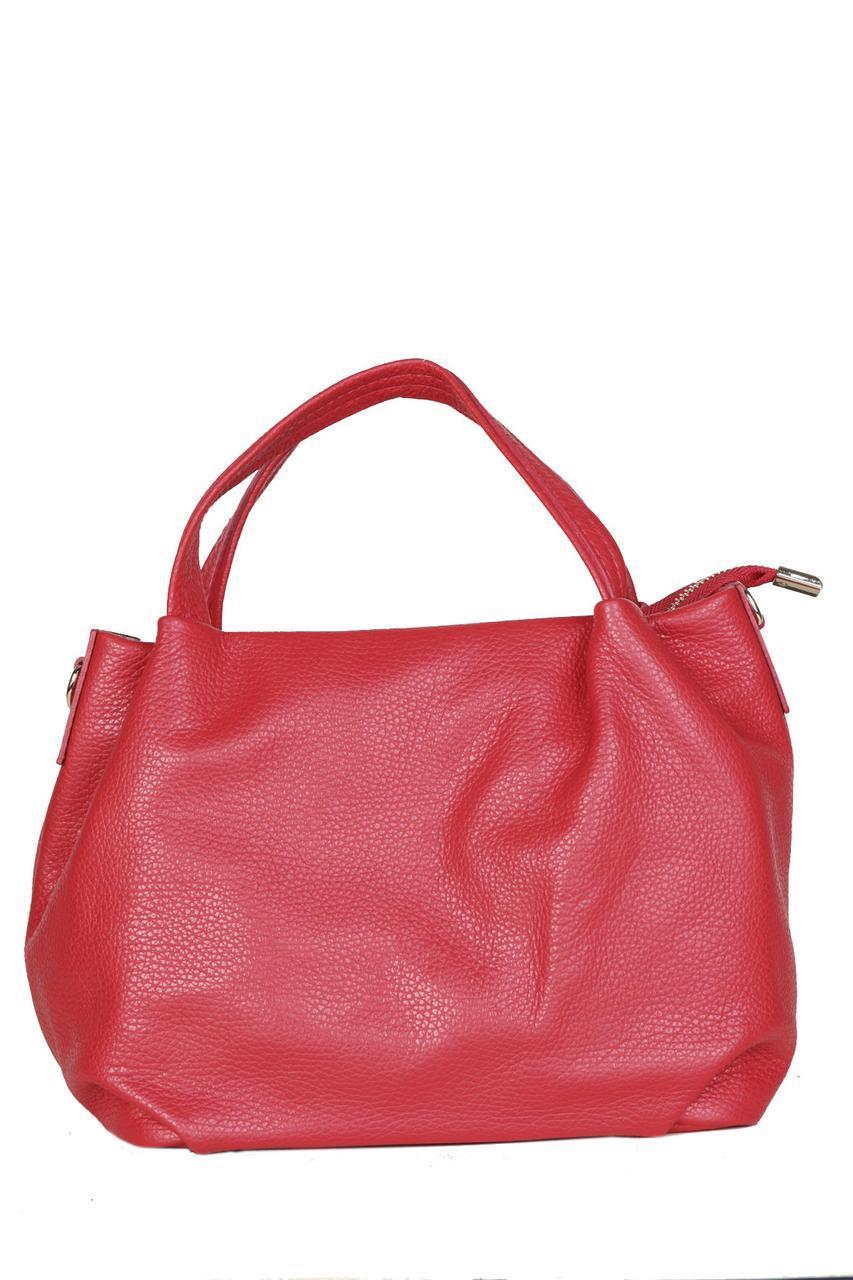 Женская кожаная сумка BONELLA Diva's Bag цвет красный