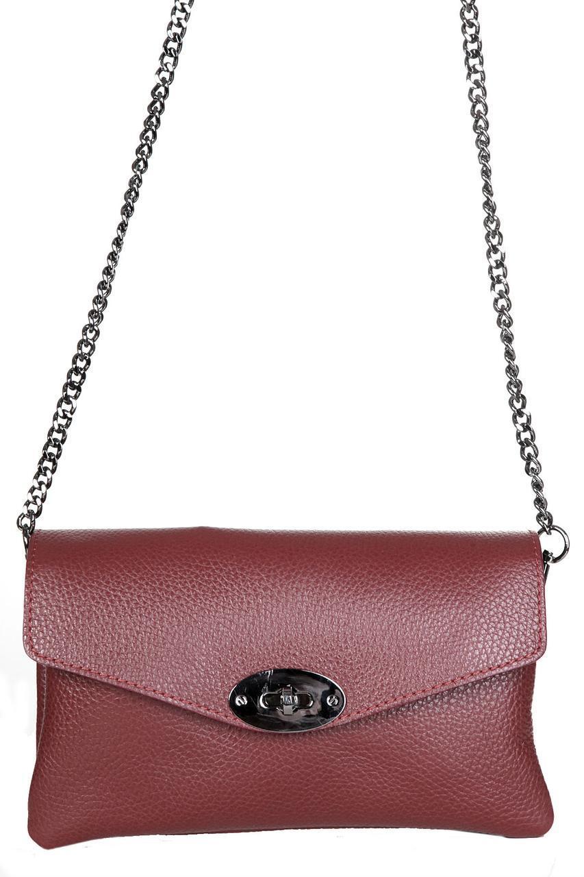 Женская кожаная сумка BERTA Diva's Bag цвет бордовый