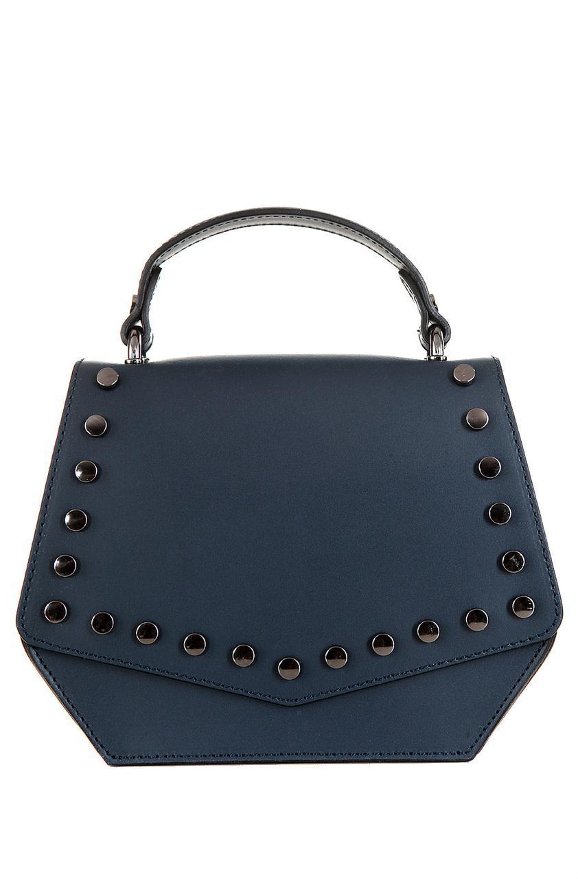 Женская кожаная сумка AUSILIA Diva's Bag цвет темно-синий