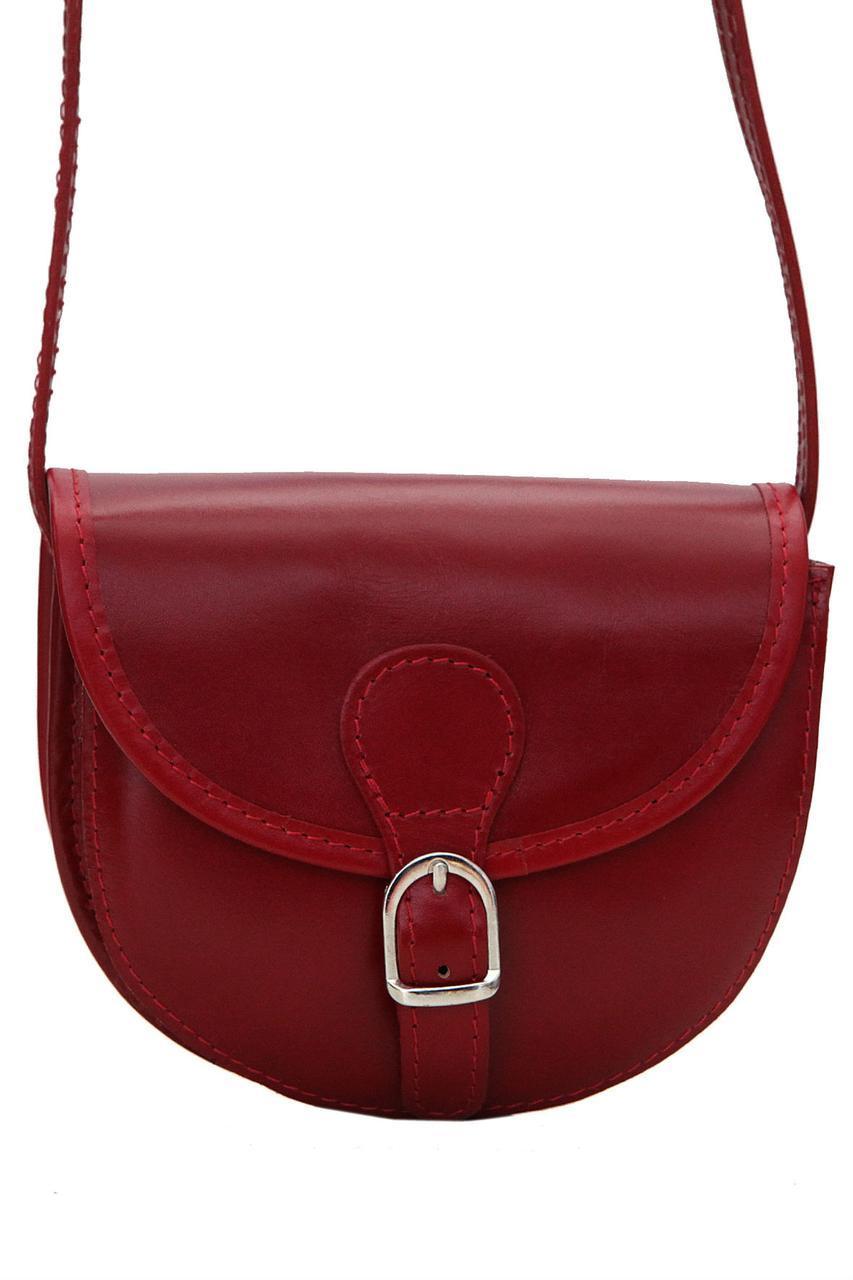 Женская кожаная сумка ANJA Diva's Bag цвет бордовый