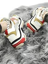 Женские кроссовки в стиле Balenciaga Triple S White Yellow Pink, фото 3