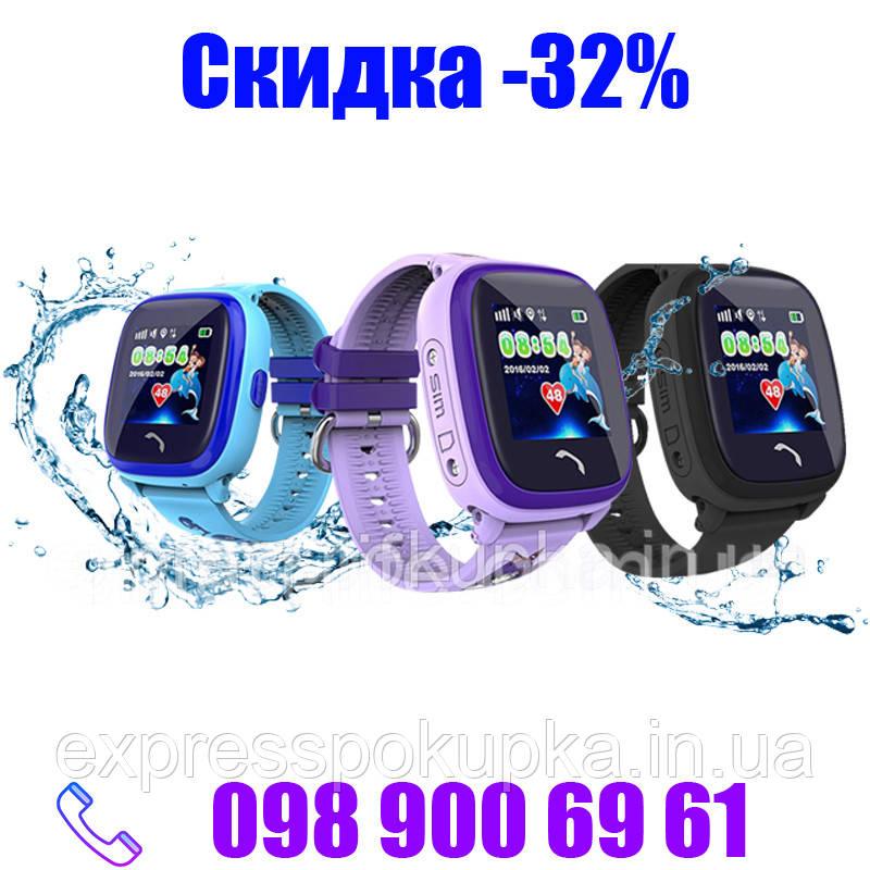 Водонепроницаемые Умные Детские Часы Smart Baby Watch DF25 (Q100 Aqua/Q300) с GPS трекером Черные