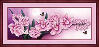 Рисование камнями 5D Lasko Розовые цветы (5D-024) 90 х 35 см