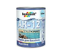 Краска для бассейнов KOMPOZIT АК-12 акриловая 0,9кг