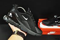 Кроссовки женские (в стиле) Nike Air Max 270 арт 20635 (черные, найк)